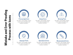 Mistake And Error Proofing Process With Icons Ppt PowerPoint Presentation Layouts Outfit PDF
