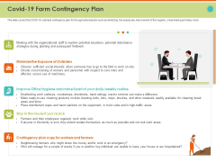 Mitigating The Impact Of COVID On Food And Agriculture Sector COVID 19 Farm Contingency Plan Portrait PDF