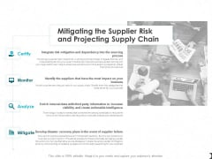 Mitigating The Supplier Risk And Projecting Supply Chain Ppt PowerPoint Presentation Slides Graphics Design