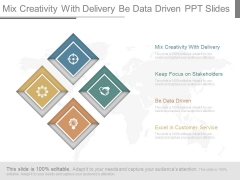 Mix Creativity With Delivery Be Data Driven Ppt Slides