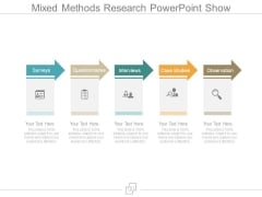 Mixed Methods Research Powerpoint Show