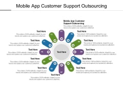 Mobile App Customer Support Outsourcing Ppt PowerPoint Presentation Slides Professional Cpb