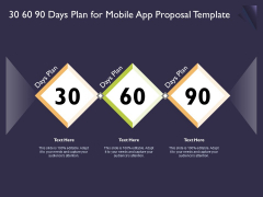 Mobile App Development 30 60 90 Days Plan For Proposal Template Infographics PDF