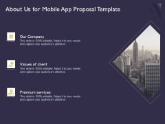 Mobile App Development About Us For Proposal Template Clipart PDF