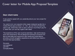 Mobile App Development Cover Letter For Proposal Template Themes PDF