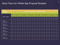 Mobile App Development Gantt Chart For Proposal Template Brochure PDF