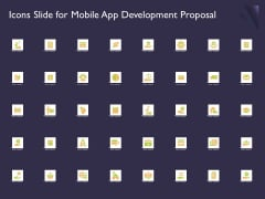 Mobile App Development Icons Slide For Mobile App Development Proposal Themes PDF