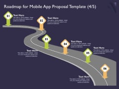 Mobile App Development Roadmap For Proposal Template Adapt Designs PDF