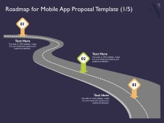 Mobile App Development Roadmap For Proposal Template And Elements PDF