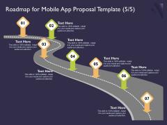 Mobile App Development Roadmap For Proposal Template Ideas PDF