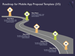 Mobile App Development Roadmap For Proposal Template It To Template PDF