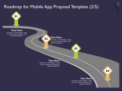 Mobile App Development Roadmap For Proposal Template Your Ideas PDF