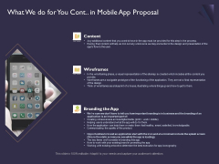 Mobile App Development What We Do For You Cont In Proposal Rules PDF
