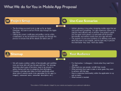 Mobile App Development What We Do For You In Proposal Professional PDF