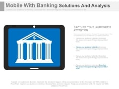 Mobile App For Banking Transactions Powerpoint Slides
