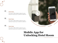 Mobile App For Unlocking Hotel Room Ppt PowerPoint Presentation Gallery Icon PDF