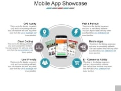 Mobile App Showcase Template 1 Ppt PowerPoint Presentation Gallery Templates
