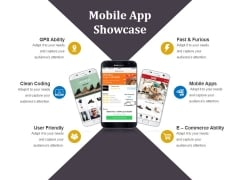 Mobile App Showcase Template 2 Ppt PowerPoint Presentation Ideas Layout