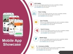 Mobile App Showcase Template 2 Ppt PowerPoint Presentation Styles Design Inspiration