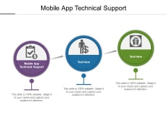 Mobile App Technical Support Ppt PowerPoint Presentation Inspiration Information Cpb