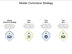 Mobile Commerce Strategy Ppt PowerPoint Presentation Layouts Sample Cpb Pdf
