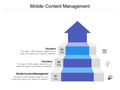 Mobile Content Management Ppt PowerPoint Presentation Model Graphics Tutorials Cpb
