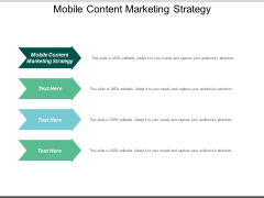 Mobile Content Marketing Strategy Ppt PowerPoint Presentation Inspiration Themes Cpb