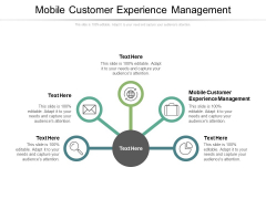 Mobile Customer Experience Management Ppt PowerPoint Presentation Show Background Cpb Pdf