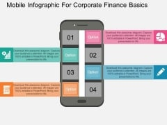 Mobile Infographic For Corporate Finance Basics Powerpoint Template