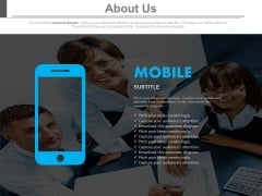 Mobile Information About Team Powerpoint Slides