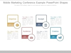 Mobile Marketing Conference Example Powerpoint Shapes