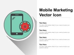 Mobile Marketing Vector Icon Ppt Powerpoint Presentation Inspiration Graphics Example