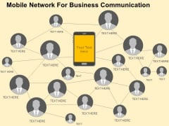 Mobile Network For Business Communication Powerpoint Templates
