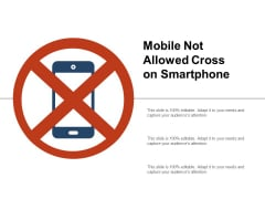 Mobile Not Allowed Cross On Smartphone Ppt PowerPoint Presentation Infographic Template Smartart