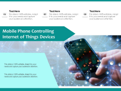 Mobile Phone Controlling Internet Of Things Devices Ppt PowerPoint Presentation Ideas Inspiration PDF