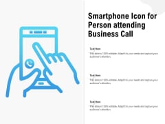 Mobile Phone Icon Showing Person On Professional Phone Call Ppt PowerPoint Presentation Slides Topics PDF
