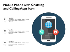 Mobile Phone With Chatting And Calling Apps Icon Ppt PowerPoint Presentation File Background PDF