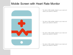 Mobile Screen With Heart Rate Monitor Ppt Powerpoint Presentation Model Information