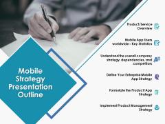 Mobile Strategy Presentation Outline Ppt Powerpoint Presentation Outline Demonstration
