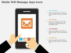 Mobile With Message Apps Icons Powerpoint Template