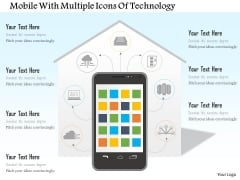 Mobile With Multiple Icons Of Technology Powerpoint Template