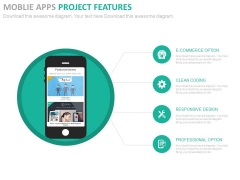 Mobile With Project Planning Icons Powerpoint Slides