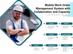 Mobile Work Order Management System With Collaboration And Capacity Ppt PowerPoint Presentation Portfolio Icons PDF