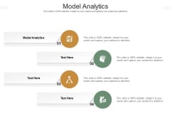Model Analytics Ppt PowerPoint Presentation Icon Deck Cpb Pdf