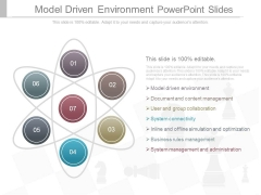 Model Driven Environment Powerpoint Slides