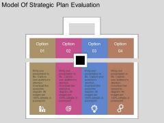 Model Of Strategic Plan Evaluation Powerpoint Template