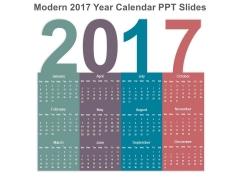 Modern 2017 Year Calendar Ppt Slides