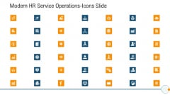 Modern HR Service Operations Icons Slide Guidelines PDF