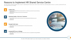 Modern HR Service Operations Reasons To Implement HR Shared Service Centre Mockup PDF