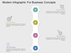 Modern Infographic For Business Concepts Powerpoint Templates